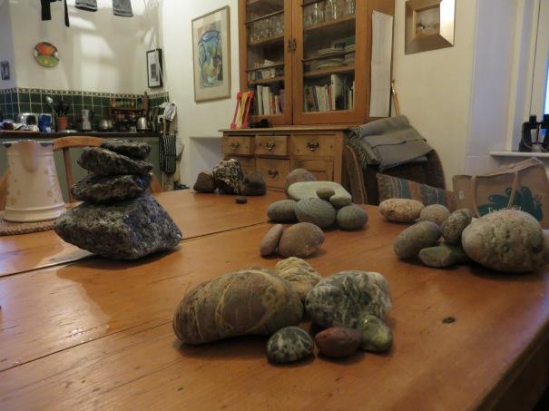 Little piles of rocks